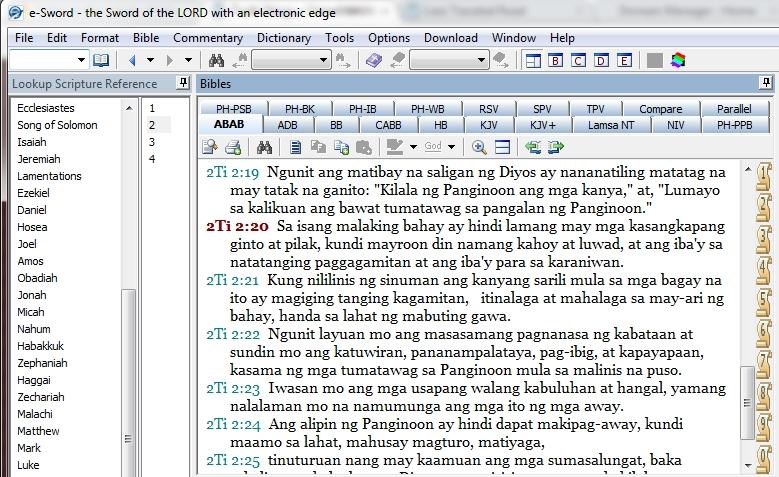 MySword Ang Bagong ang Biblia