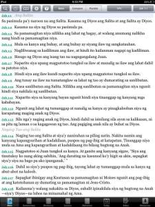Tagalog Popular Version (eSword for iPad)