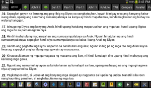 MySword: Revised Tagalog Popular Version (Galaxy Tab 3)